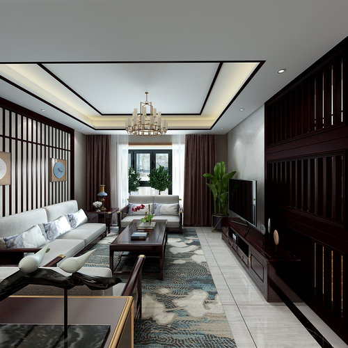 中式家装搭配全景27