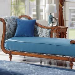 千匠一品简约美式优质胡桃楸木橡胶木贵妃沙发XM-803-Y