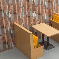 千匠一品现代极简北欧三聚氰胺板+海绵+高档西皮餐厅单卡座YS-66-J