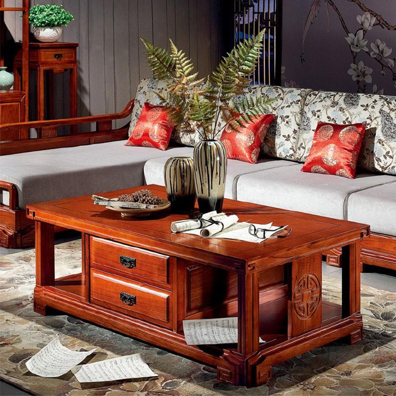 千匠一品中式红木家具进口榆木茶几HT-K03-E