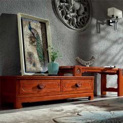 千匠一品中式红木家具优选进口榆木组合电视柜HT-K65-E