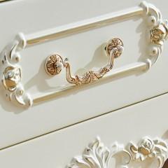 千匠一品浪漫法式雕花新古典奢华全实木玻璃门餐边柜YL801-Q