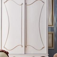 千匠一品法式板木结合多储物趟门衣柜G903-J
