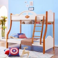 千匠一品地中海泰国进口橡胶木儿童上下床组合床BT603-J