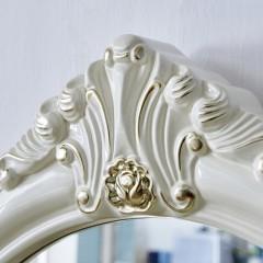 千匠一品浪漫法式雕花新古典奢华全实木带镜子梳妆台YL802-Q