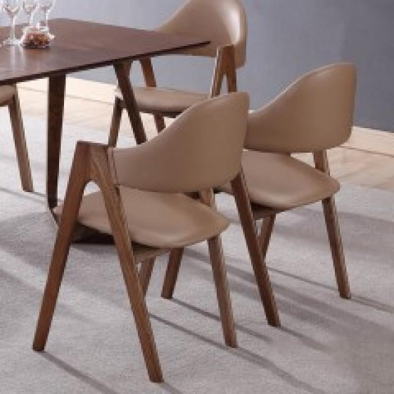 千匠一品北欧风格精选优质进口白蜡木餐厅A字椅JO-018#-X