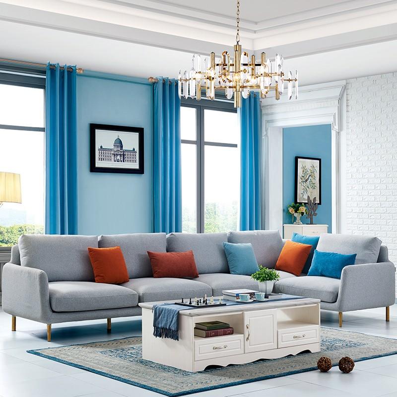 千匠一品现代简欧实木沙发组合XS6011-H