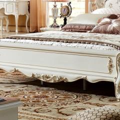 千匠一品法式风格精选优质板木结合布艺卧室1.8m床5516-Y
