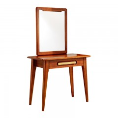 千匠一品新中式精选非洲进口金丝檀木实木框架储物妆台镜H01-J
