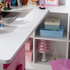 千匠一品现代简约环保型高密度板儿童学习桌带书柜书桌组合8866-Y