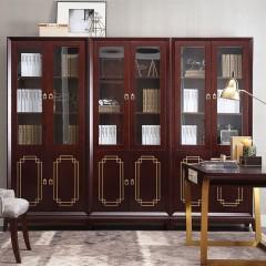 【精品】千匠一品轻奢美式优质榉木书柜SD5201-M