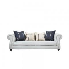 【精品】千匠一品轻奢美式简朴优质棉麻客厅沙发组合SD2209-M