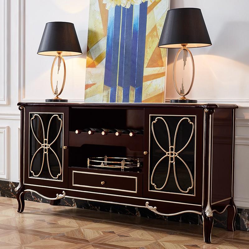 【精品】千匠一品轻奢法式优质橡木实木+环保油漆餐边柜BF-cbg02-X