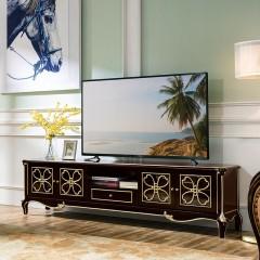 【精品】千匠一品轻奢法式橡木全实木框架+环保油漆电视柜BF702-X