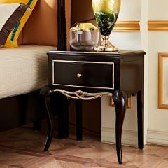 【精品】千匠一品轻奢法式优质橡木全实木+环保油漆床头柜BF103-X
