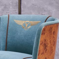 【精品】千匠一品轻奢后现代进口蚕丝绒+外框采用纳米科技板客厅休闲椅C1085-M