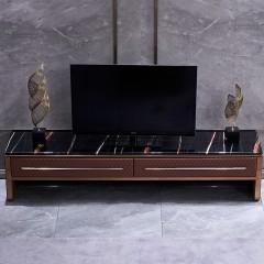 【精品】千匠一品轻奢后现代进口优质仿真皮+光滑柜面+实木框架客厅电视柜方管-M
