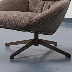 【精品】千匠一品意式极简风格进口白蜡木+实木多层板棉麻布休闲椅YS-5J36-J