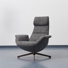 千匠一品极简中式精选进口白蜡木+实木多层板棉麻布休闲椅YS-5J37-J
