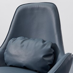 【精品】千匠一品意式极简风格进口头层黄牛皮白蜡木+实木多层板休闲椅YS-5J38-J