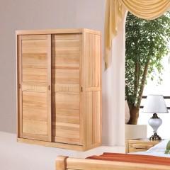 千匠一品新中式风格优质榉木实木多层板衣柜趟门衣柜WS622-X