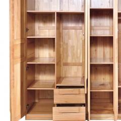 千匠一品 新中式衣柜中式衣柜中式风格衣柜实木衣柜榉木+实木多层板衣柜五门衣柜WS621-Y