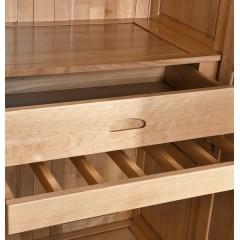 千匠一品 新中式风格衣柜四门衣柜实木衣柜多储物衣柜WS625-Y