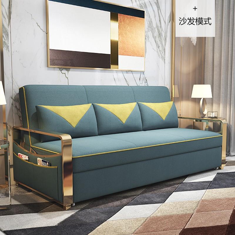千匠一品 现代极简北欧风格多层实木+进口科技布海绵/乳胶储物沙发床999-J