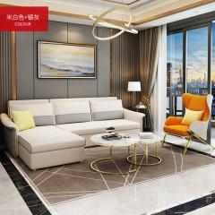 千匠一品 现代简约风格精选多层实木结构+优质弹簧+高密度海绵/天然乳胶转角沙发床888-Y