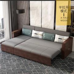 千匠一品 现代简约风格精选多层实木结构+优质弹簧+高密度海绵/天然乳胶/天然椰棕功能沙发床901-Y
