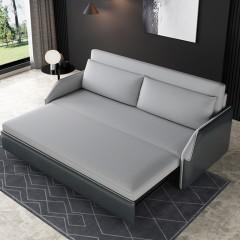 千匠一品 现代极简北欧风格皮布结合沙发厚实板材+锰钢排骨架多功能高密度海绵/乳胶/椰棕储物沙发床906-J