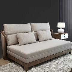 千匠一品 现代极简北欧风格多层实木+进口冰雪绒海绵/乳胶多功能沙发床B86-J