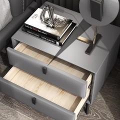 【精品】千匠一品轻奢意式极简优质超纤皮+全实木松木框架储物床头柜YS3-001A-J