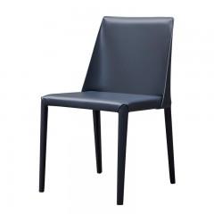 【精品】千匠一品轻奢意式极简优质铁框架+高密度海棉+马鞍皮椅子234-M