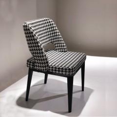 【精品】千匠一品轻奢意式极简优质棉麻布+高密度海绵+碳素钢框架椅子B3088-3#-M