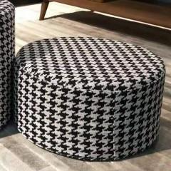 【精品】千匠一品轻奢意式极简优质优质棉麻布/千鸟格布艺高矮圆凳GC3180-M