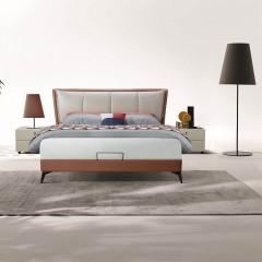 千匠一品现代意式极简精选科技布+松木框架1.8m双人床DE011-C-J