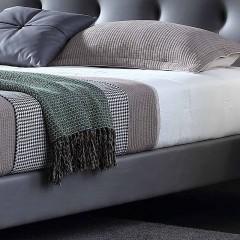 千匠一品现代意式极简精选科技布+松木框架1.5m/1.8m双人床DE016-C1-J