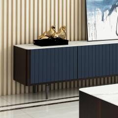 千匠一品现代意式极简精选优质实木芯板+卡特金岩板+缓冲导轨地柜DE001-VDG-J