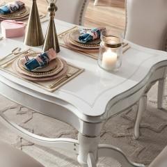 千匠一品欧式简约板木结合长餐桌G902-J