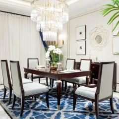 【精品】千匠一品轻奢美式优质桃花芯实木+高密度纤维板807餐桌-X