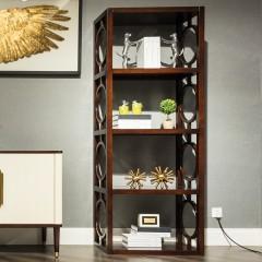 【精品】千匠一品优质桃花芯实木+高密度纤维板轻奢美式书柜912-X