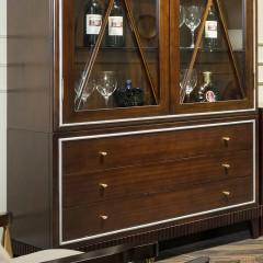 【精品】千匠一品轻奢美式优质桃花芯实木+高密度纤维板918酒柜-X