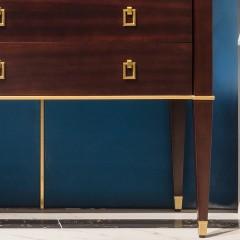 【精品】千匠一品优质桃花芯实木+高密度纤维板轻奢美式餐边柜917-X