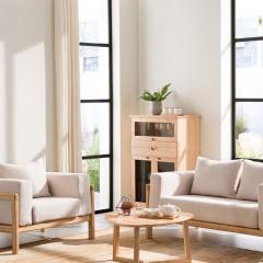 千匠一品 简约北欧精选优质白蜡木沙发组合SF001-C