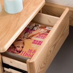 千匠一品 北欧风格优质白腊木床头柜CTD-9715-C