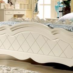 千匠一品韩式优质橡胶木+中纤板板木结合床LM-908-Y