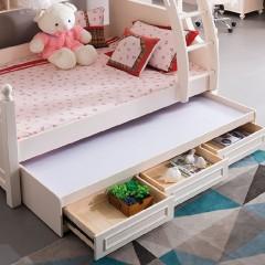 千匠一品韩式泰国进口橡胶木+E1级环保密度板1.35米上下床w3915-G