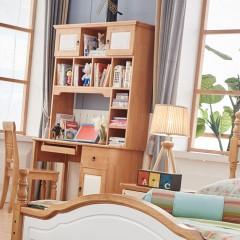千匠一品 精选优质橡胶木现代北欧直角书台9013-C