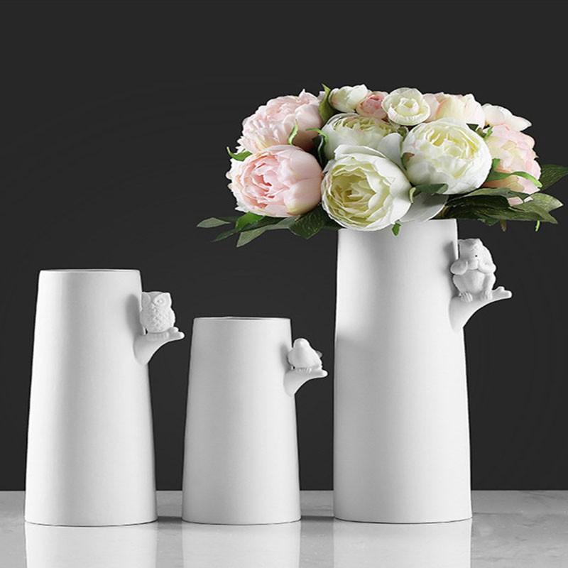 千匠一品简约现代摆设创意客厅白色文艺家居花瓶 庆平系列FA1-S